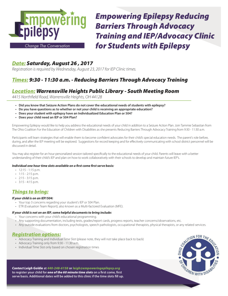 Reducing Barriers Through Advocacy Training and IEP Advocacy Clinic ...